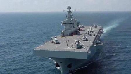 首型两栖攻击舰海南舰入列:有15层楼那么高
