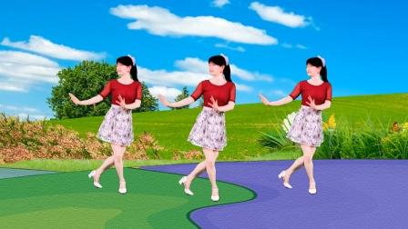 广场舞《一朵情花开》欢乐的旋律,美美的背面示范
