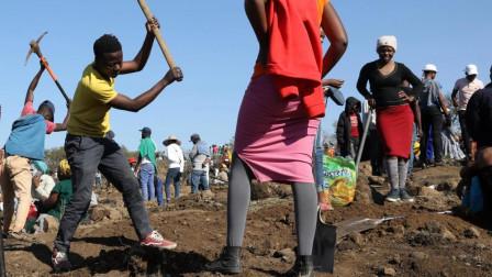 南非3000人寻钻石!50公顷土地遭严重破坏,挖出的东西大失所望