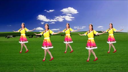 热门健身舞《拉萨夜雨》醉人旋律真好听,动作简单易学也健身
