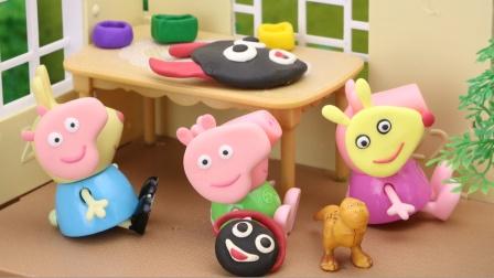 小猪佩奇和小兔瑞贝卡做可怕的面具,结果,谁的面具最可怕呢?