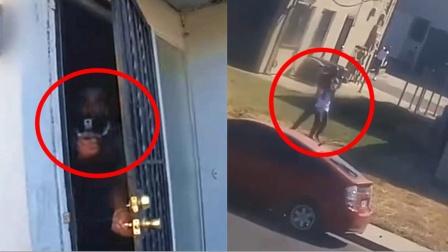 美国警察遭冷枪袭击身亡 同伴打光子弹击毙嫌犯!