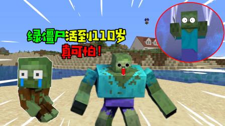 阿涵说:我的世界中的绿僵尸活到了110岁!还成为怪物们的首领