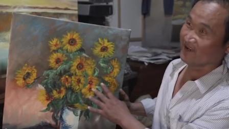 现实版陋室铭!收废品大叔蜗居出租房画千幅油画:陋室画家