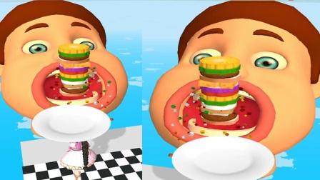 汉堡披萨叠高高:小舞给唐三少收集汉堡摔倒了