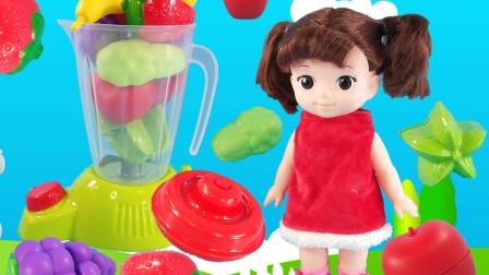 玩具英语:12种水果的果汁,看看小豆子都用了那些水果吧