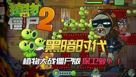 植物大战僵尸2:黑暗时代植物大战僵尸版保卫萝卜!