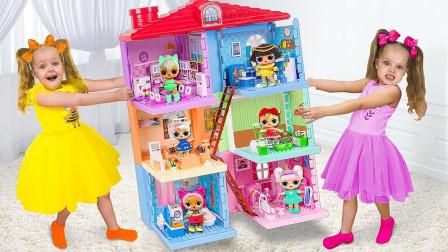 太淘气,萌娃小萝莉和小正太怎么弄坏了姐姐的城堡玩具?妈妈生气了吗?儿童亲子益智游戏
