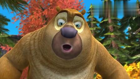 熊出没:光头强跟踪熊大熊二, 熊大发现了木头, 有故事