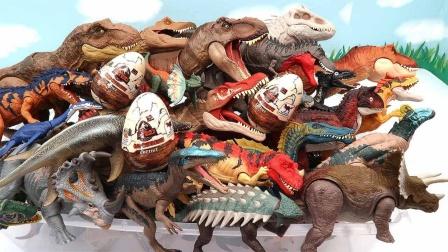 玩具拆袋认识侏罗纪时期小恐龙