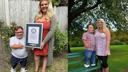 妻子比丈夫高60厘米 世界最大身高差夫妇创世界纪录