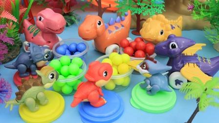 恐龙宝宝吃了彩虹糖长大了