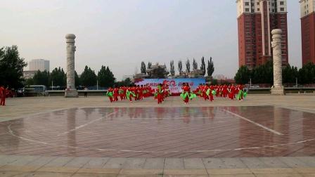 20210626庆七一汇演10秧歌舞庆丰收公园梦之队