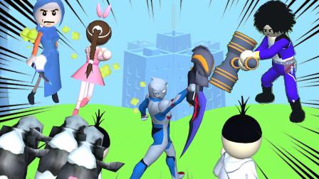 疯狂向前冲:唐三背叛小舞,小舞带着奥特曼和伍六七找唐三算账!