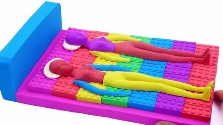 太空沙创意DIY双人床益智玩具,比起培乐多彩泥你更喜欢哪个?