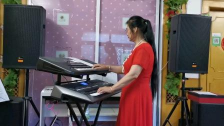 《久别的草原》双电子琴演奏2021.6.27.☘☘☘☘☘☘