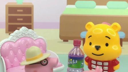 猪爸爸给乔治空瓶子干嘛啊?