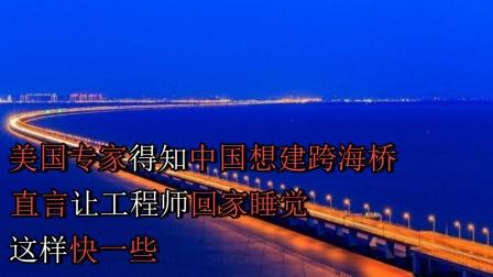 美国专家得知中国想建跨海桥,直言让工程师回家睡觉,这样快一些