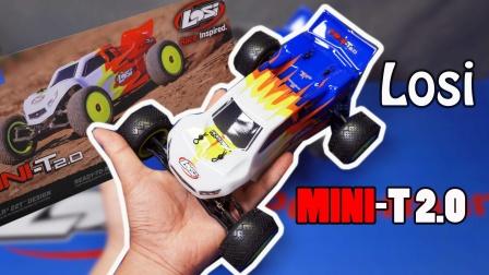 男人都能一手掌控的中置后驱大马力!Losi MINI-T 2.0 1/18遥控竞速卡车开箱《超人聊模型》135