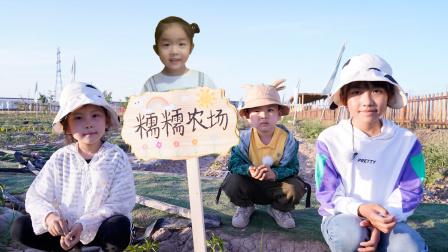 农场vlog:粉丝糯糯认领农场,苏菲娅和艾米儿帮她制作了农场牌
