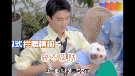 吴磊花式抱狗,真当孩子养了!
