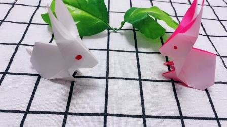 可爱的小兔子,折纸教程!