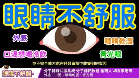 【中文字幕】wellness 眼睛不舒服~ 外感、口渴想喝冷飲、眼睛乾澀、青光眼