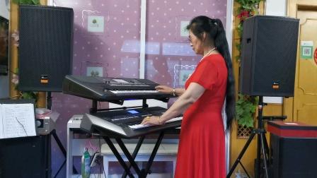 《共筑中国梦》庆祝建党100周年双电子琴演奏2021.6.30.🌹🌹🌹🌹🌹