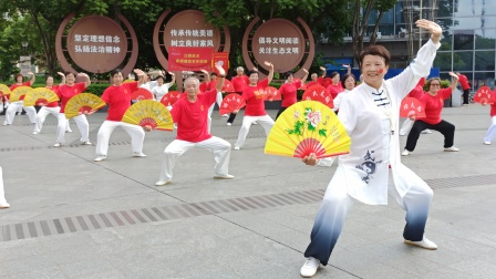 江桥精武太极拳传承基地庆祝中国共产党百年华诞活动掠影