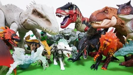 小霸王龙欺负小恐龙,恐龙们一起来对决
