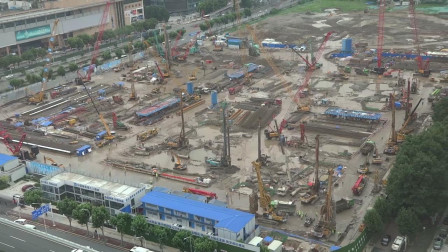 阿里巴巴华中总部施工进度视频2021年7月2号.地址:武汉市武昌区徐东。