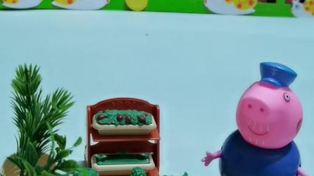 少儿故事:猪爷爷自己去菜地摘菜,拿了玉米