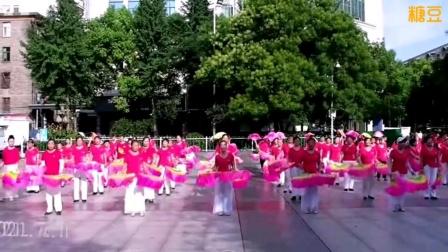 泰和县长寿健身队庆祝建党一百周年扇子舞表演