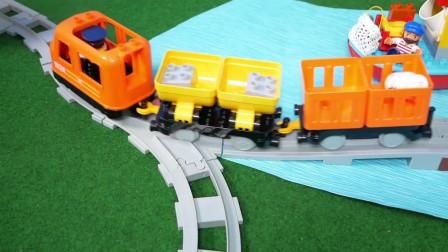 一起搭建火车轨道