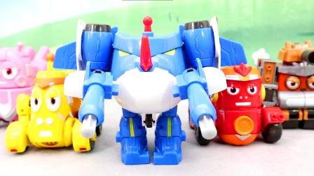 爆笑虫子机甲战队套装,五合一变形机器人