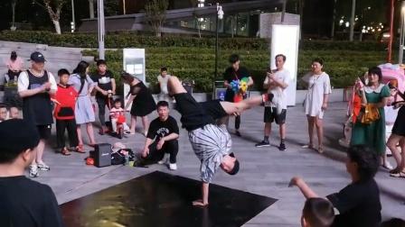 bboyHR浩然户外跳舞练习瞬间比赛时刻