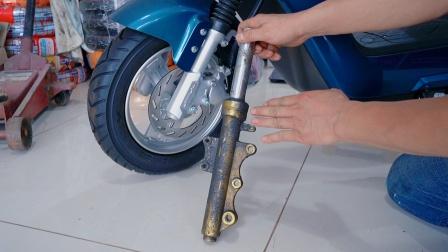 电动车前减震器为什么漏油?伍哥告诉你原因,让你提前解决问题
