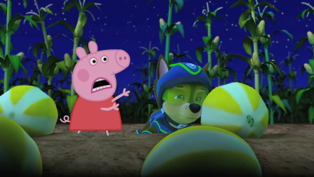 小猪佩奇和汪汪队立大功阿奇找大瓜
