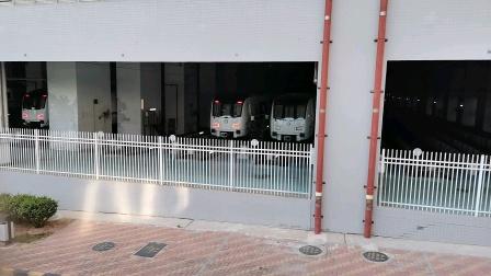 (库存)深圳地铁2号线编号240、250停在蛇口西车辆段