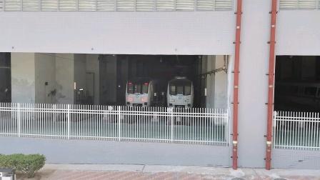 (库存)深圳地铁2号线5辆北车长客增购车停在蛇口西车辆段