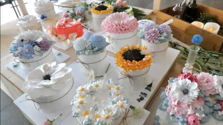 比花还美的蛋糕,艺术花蛋糕,独特的视觉体验