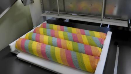 通过数百次上色制成的彩虹卷蛋糕,给你不一样的视觉体验