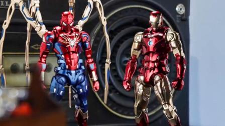 钢铁侠氪出新战甲,自己和蜘蛛侠各一套,启动时所有人都震惊了!
