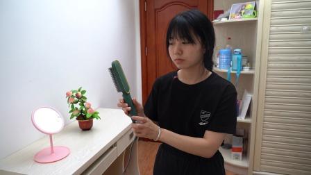 自从用了这款直发梳,每天在家也能做造型,自己在家就能做发型