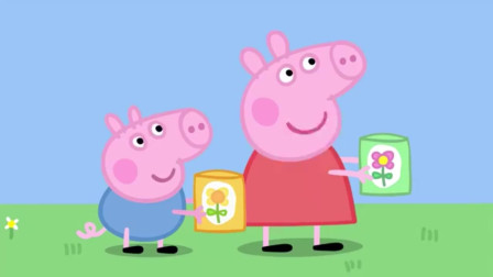小猪佩奇:佩奇建造花园,征用了猪爸爸的土地,猪爸爸一脸委屈