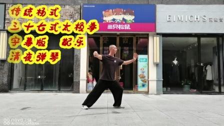 佛系初学太极系列之传统杨式三十七式太极拳动作字幕版英山步步清风演示拳友视频下方多多指导谢谢
