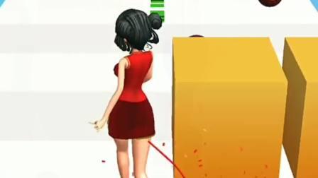 趣味小游戏:小姐姐的裙子都脱线了