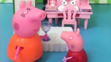 乔治装病想吃好吃的,可猪妈妈没有让乔治吃东西