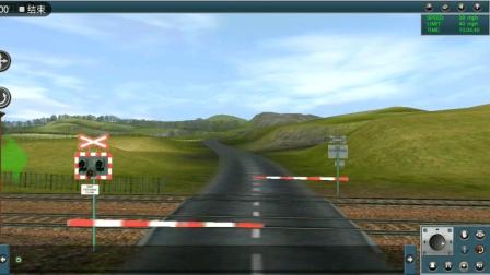 蓝猫回送大功率牵引货运列车飙过速度好快,列车好长。