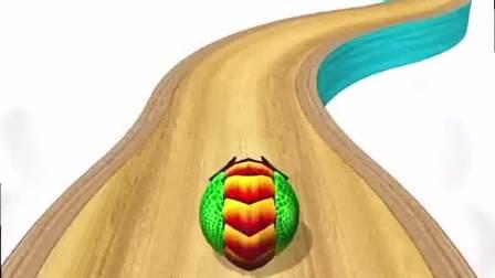 小游戏:小花球,慢溜溜的滚出去了
